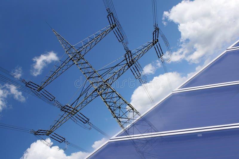 Solarenergier zur Stromerzeugung στοκ φωτογραφία με δικαίωμα ελεύθερης χρήσης