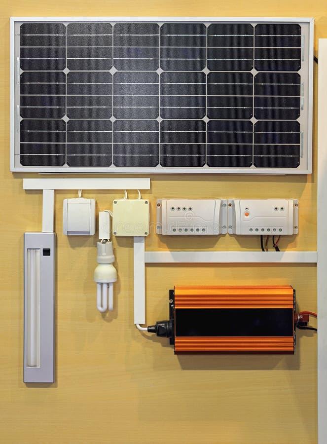 Solarenergiesystem stockbilder