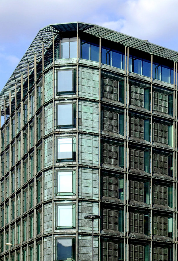 Solargebäude stockfotos