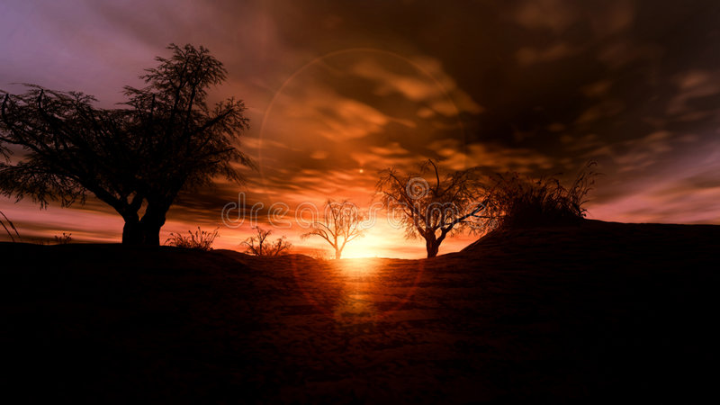 Download Solaria ilustracji. Obraz złożonej z drewno, świecenie, niebo - 29005
