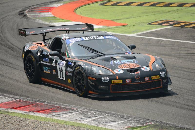 Solaris-Motorsport Chevrolet Corvette GT3 italienisches GT 2015 in Monza lizenzfreies stockbild