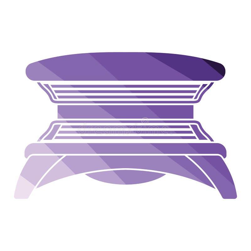 Solarium ikona royalty ilustracja