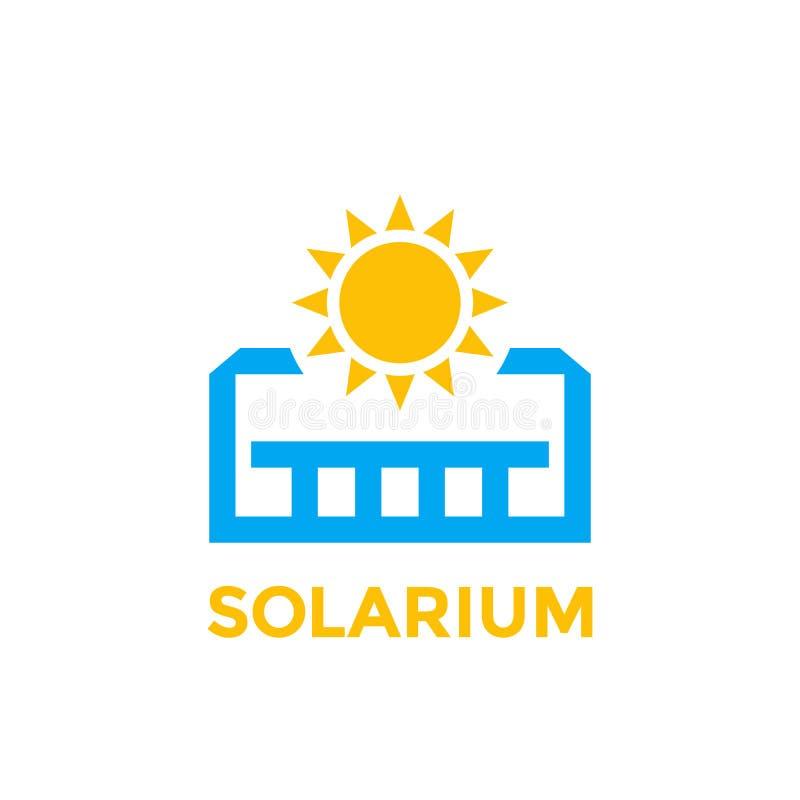 Solarium ikona na bielu ilustracji
