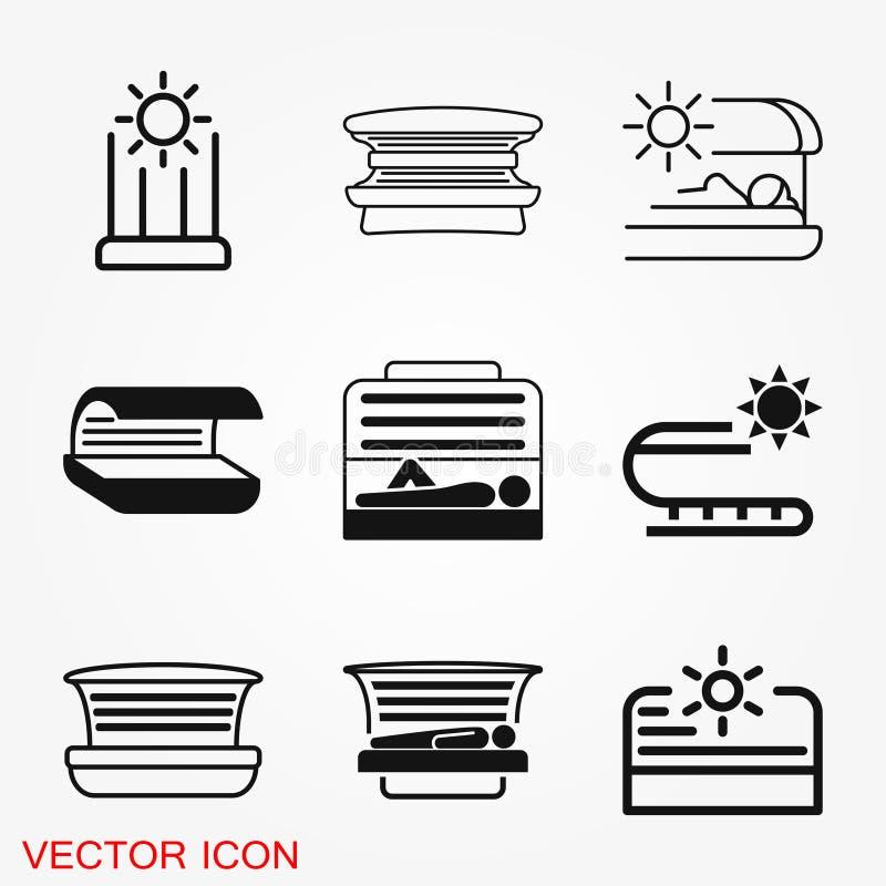 Solarium ikony znaka symbol dla projekta royalty ilustracja