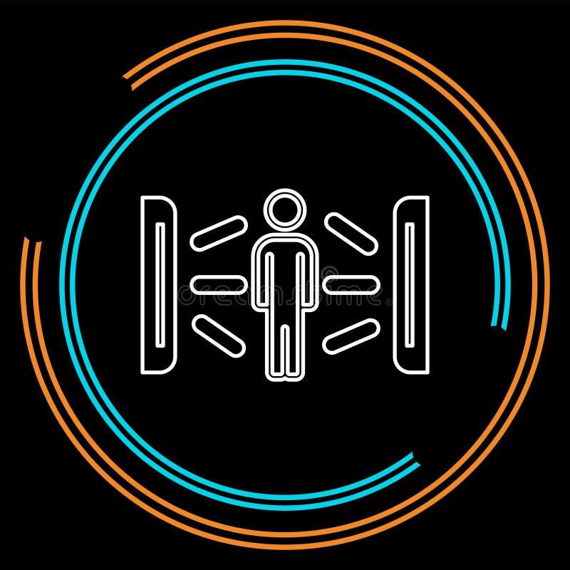 Solarium kreatywnie ikona element ilustracja ilustracji