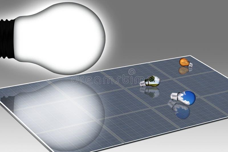 Solarlampen stock abbildung