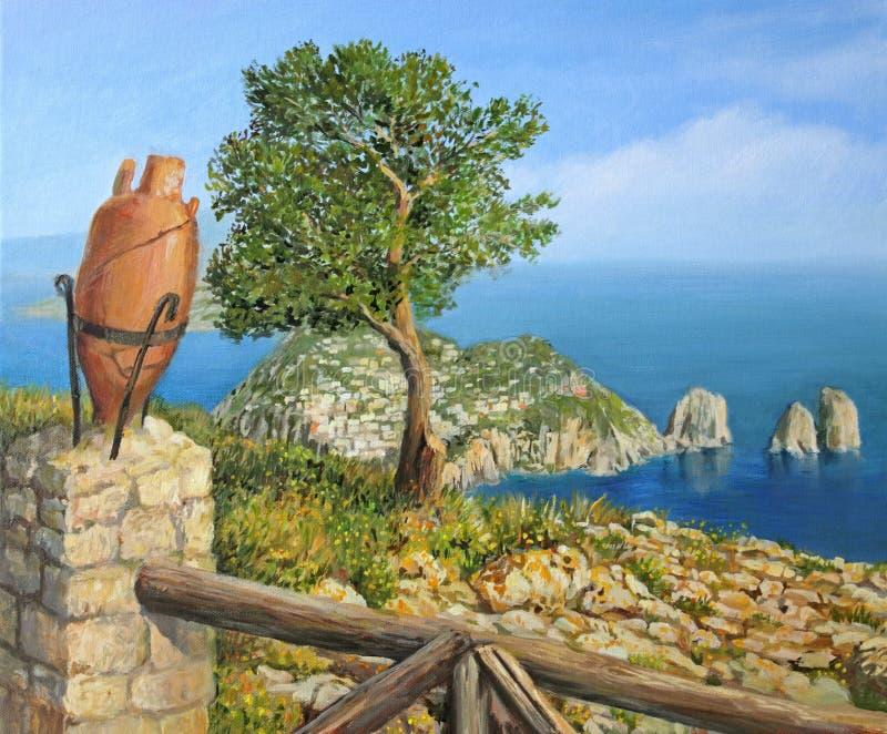 solaro monte острова capri стоковая фотография