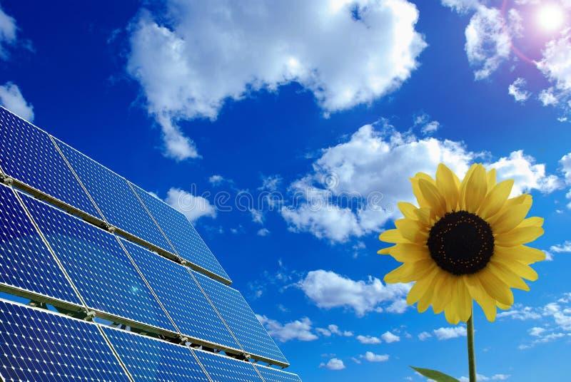 Solarpanel fotografía de archivo