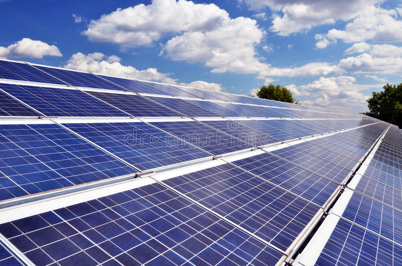 Solarpanels stock afbeeldingen
