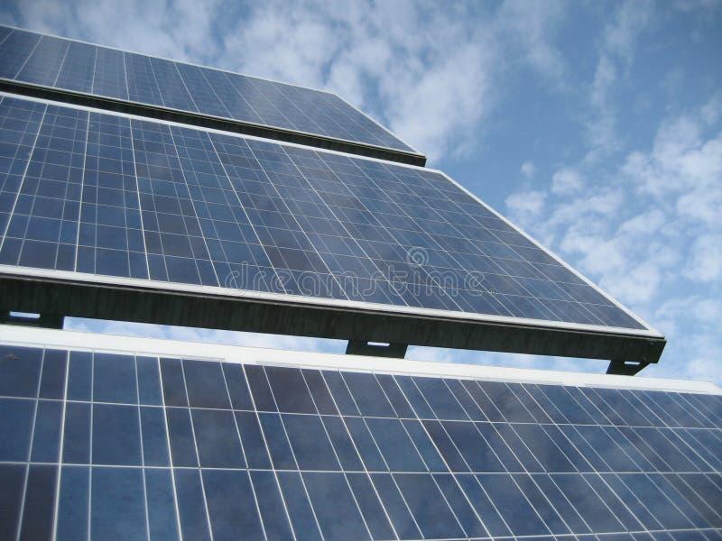 SolarStromnetz III stockbild