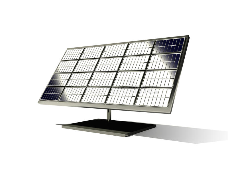Solarzelle 3d stock abbildung