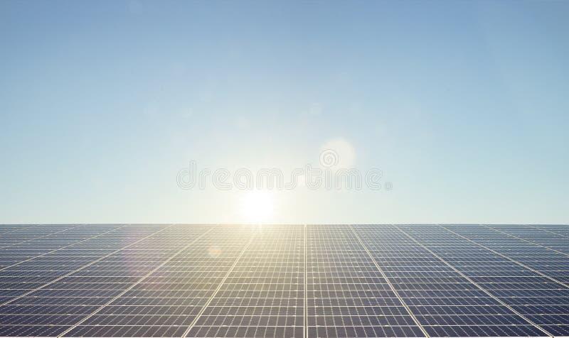 Solarzellen auf Dach stockbilder