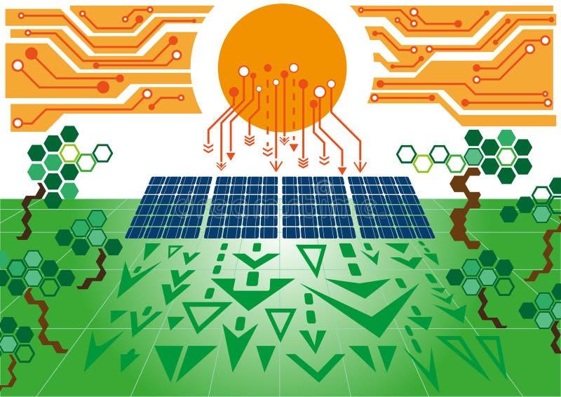 Solarzellenenergie plant02 vektor abbildung