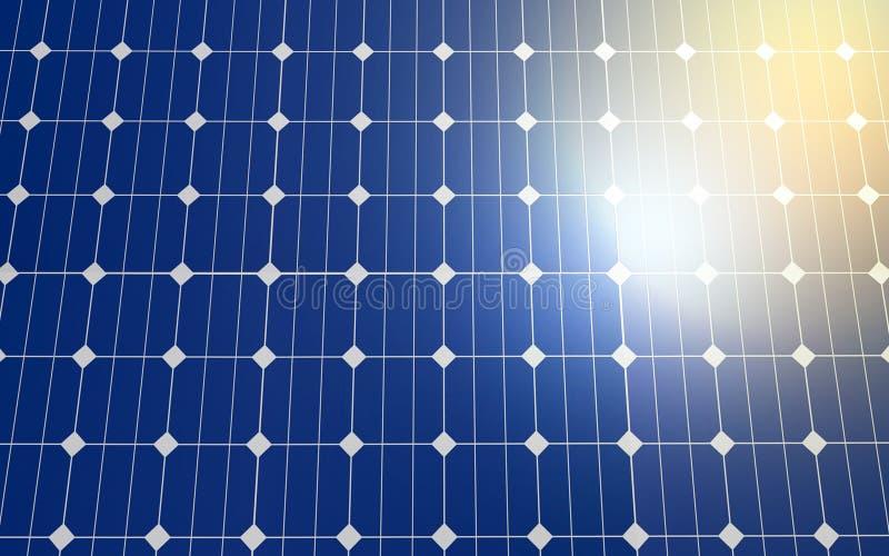 Solarzellenplattenhintergrund lizenzfreie abbildung