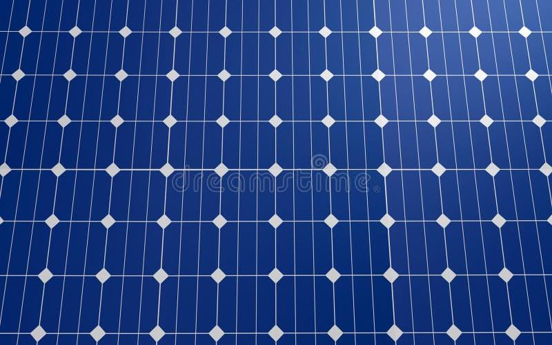 Solarzellenplattenhintergrund stock abbildung