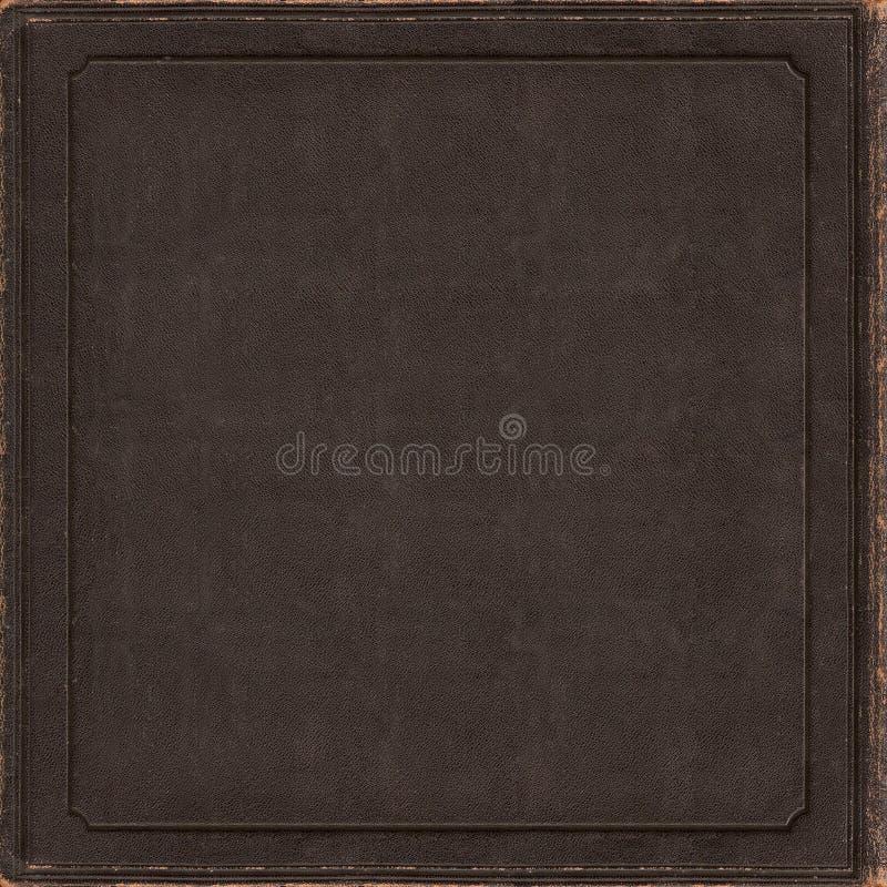 Solas ilustraciones de la cubierta en blanco del vinilo cd de cuero viejo del libro foto de archivo libre de regalías