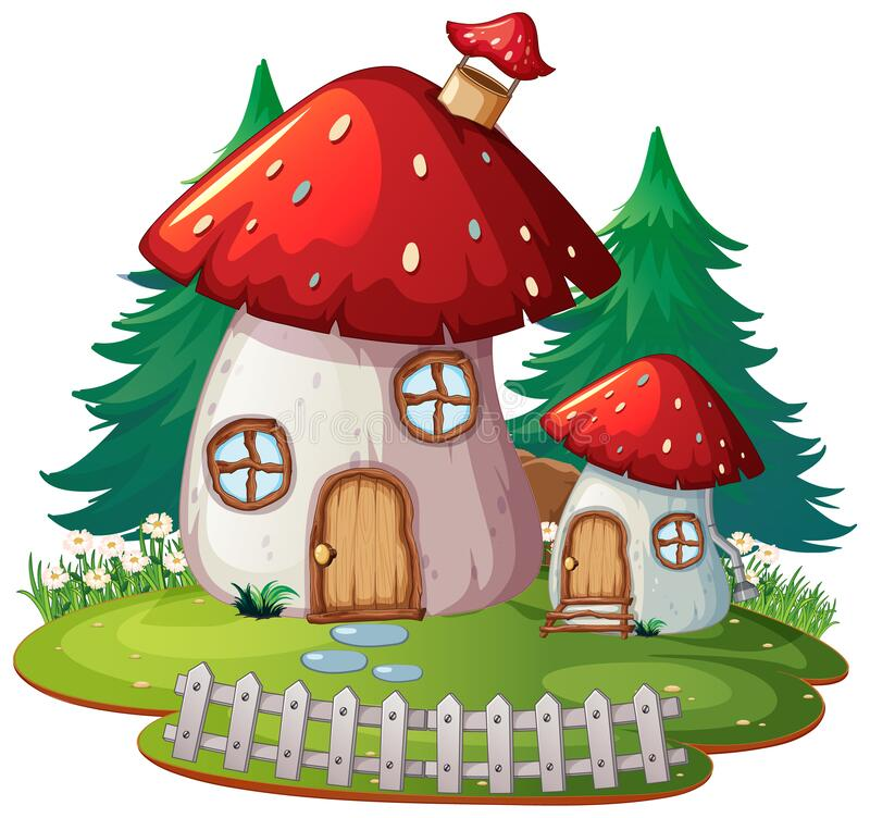 Free Solated Fantasy Mushroom House Stock Image - 184292341