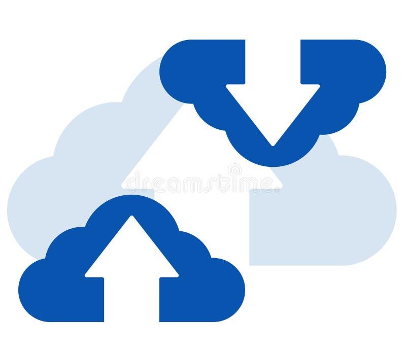 Solated strzałkowata ikona na białym tle dla przeniesień zastosowań usługowych dane ilustracji