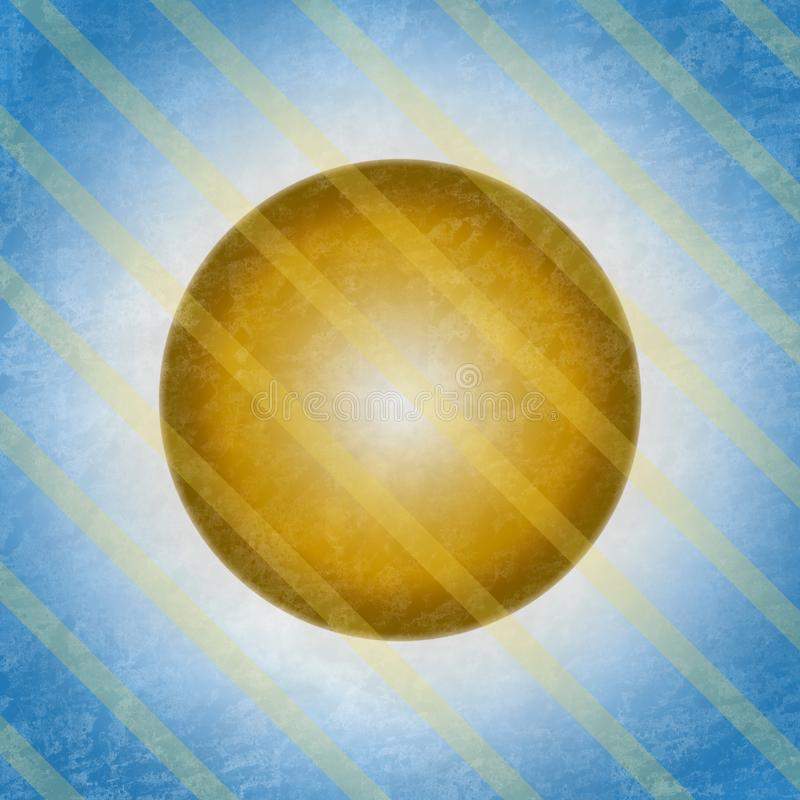 Solbakgrund som skiner i himmel royaltyfri illustrationer