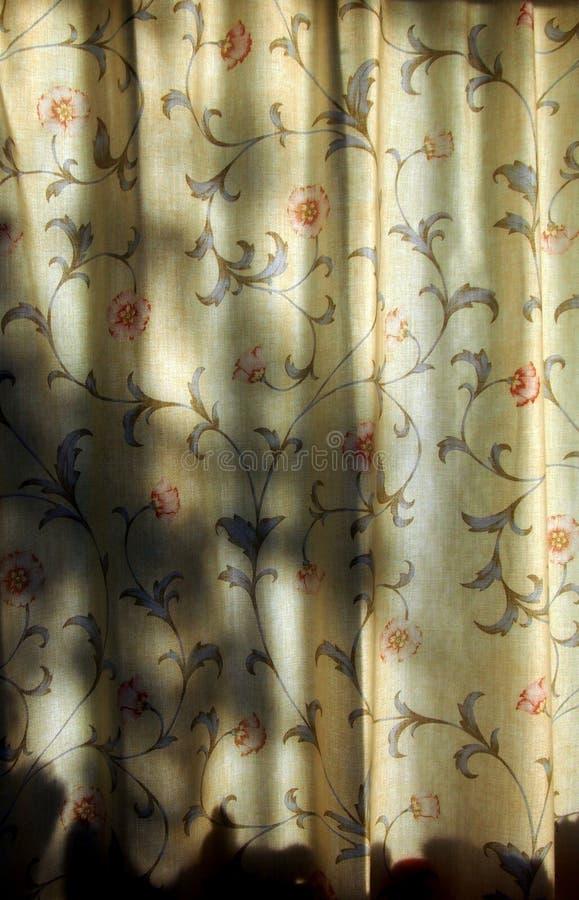 Solbelysta gardiner, med skuggor arkivfoton