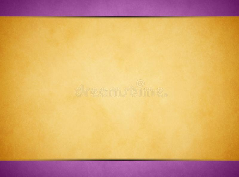 Solbränd pergamenttextur Ljust - purpurfärgad titelrad och Footer fotografering för bildbyråer
