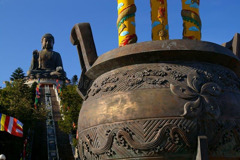 solbränt tian för buddha lin klosterpo royaltyfri fotografi