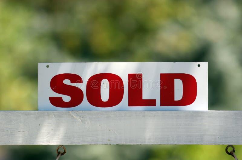 Sold. Real estate sold sign