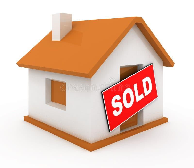 Download Sold house stock illustration. Illustration of sign, home - 18775436