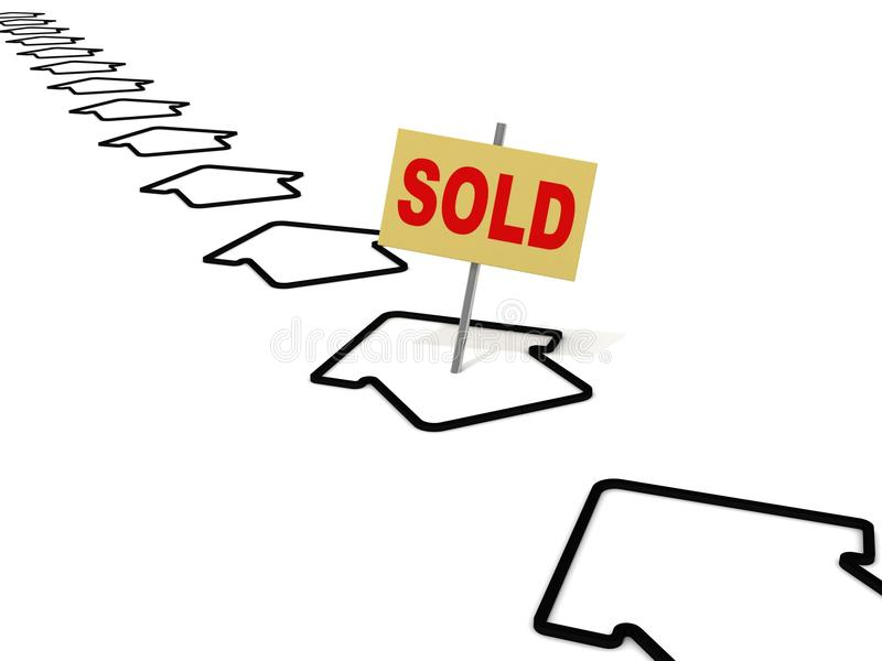 Download Sold House Choice Icon Stock Photo - Image: 22171800