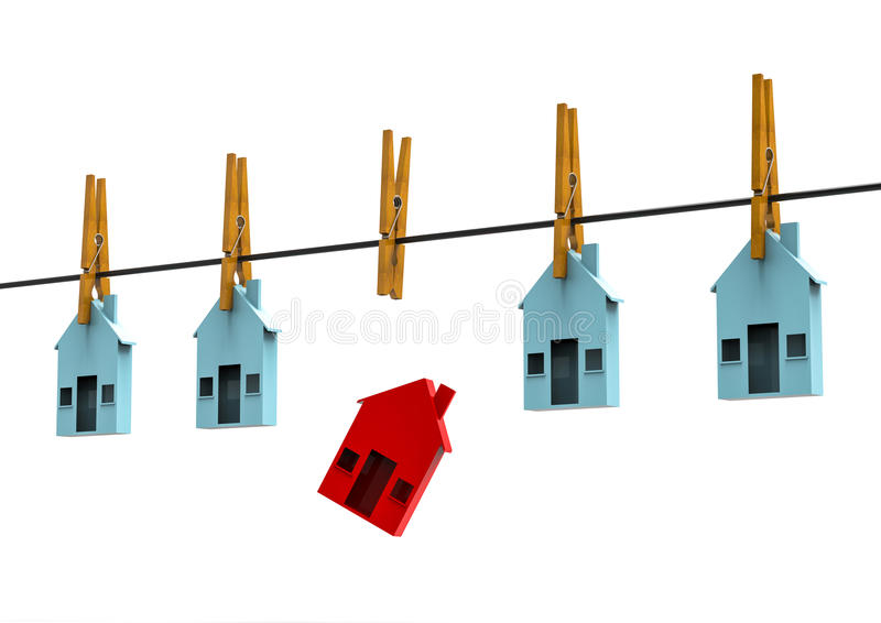 Sold house concept stock illustration