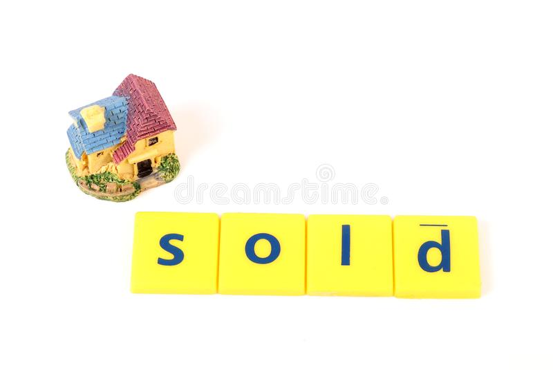 Sold house. Concept shot showing sold house royalty free stock photo