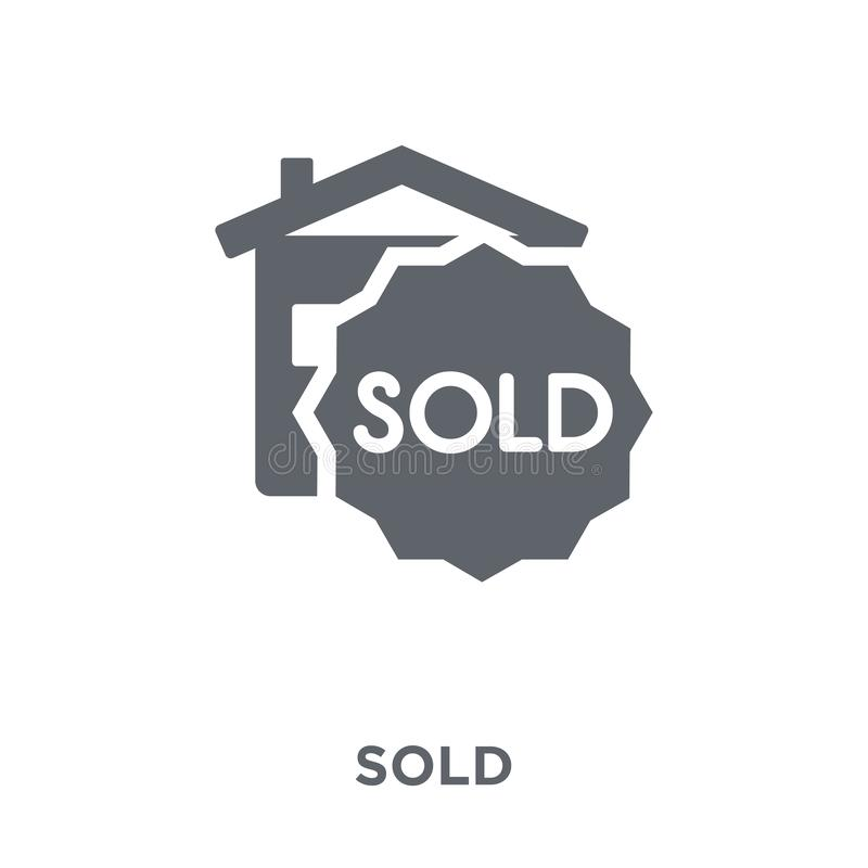 Sold icon from collection. stock illustration
