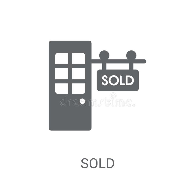 Sold icon. Trendy Sold logo concept on white background from Real Estate collection stock illustration
