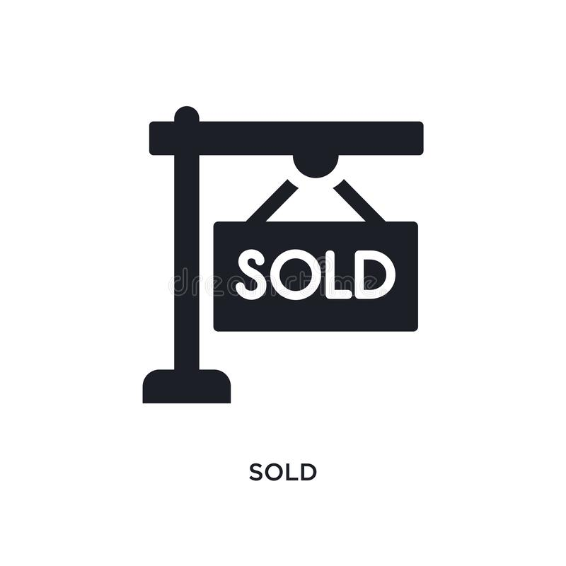 sold isolated icon. simple element illustration from real estate concept icons. sold editable logo sign symbol design on white vector illustration