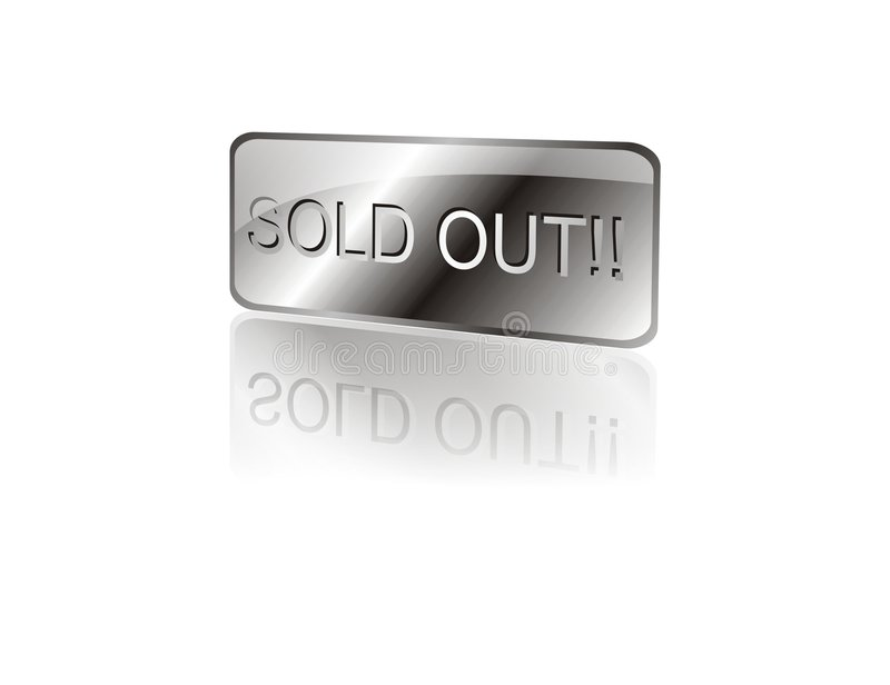 Sold Out Sign stock illustration
