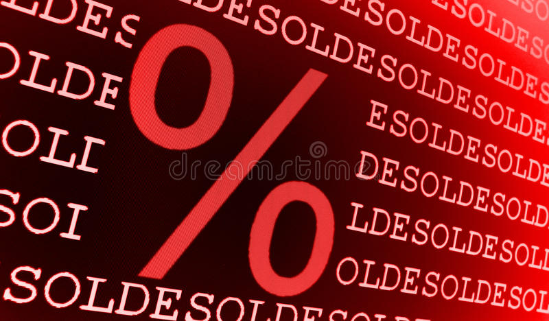 Download Sold percentage sign stock illustration. Illustration of black - 11244218