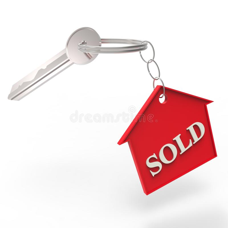 Download SOLD Red House Keychain stock illustration. Image of opeing - 39160743
