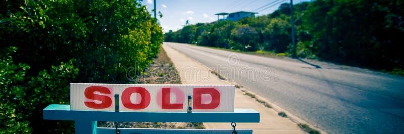 Sold se connectent les immobiliers photographie stock