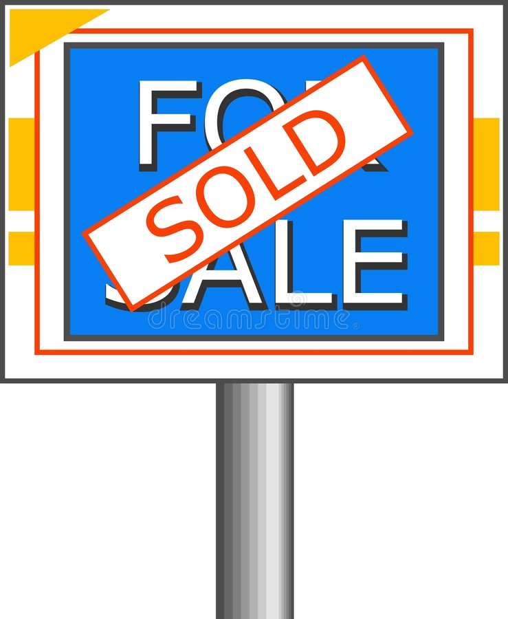 Download Sold Sign stock illustration. Image of messages, sale, estate - 31605