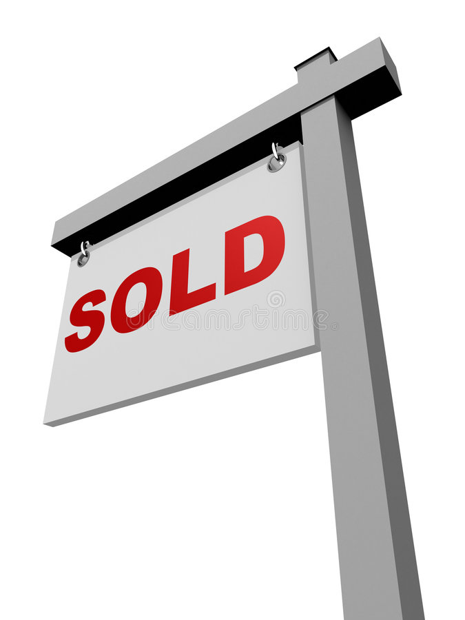 For Sale Sold Sign: Home For Sale Real Estate Sign Stock Image