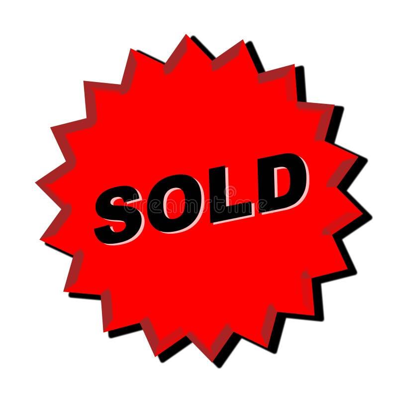 Sold Sign vector illustration