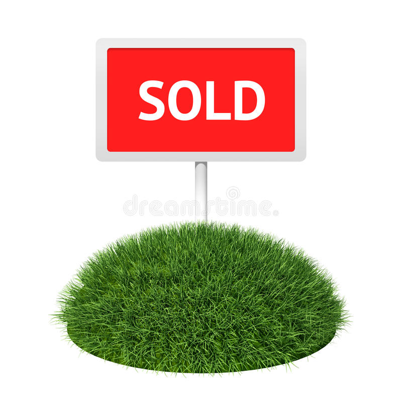 Download Sold sign with grass stock illustration. Image of horticulture - 20382237