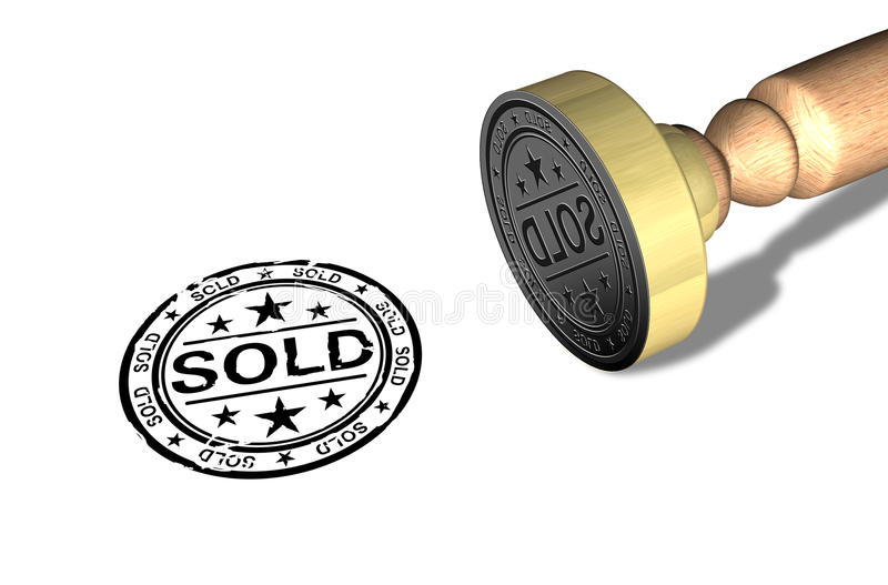 Download Sold stamp stock illustration. Image of design, code - 24728503
