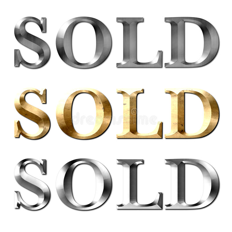 Sold text for Realtor royalty free stock photo