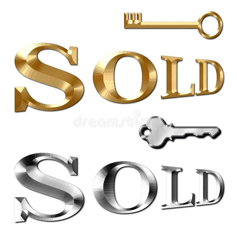 Sold text for Realtor Keys stock photos