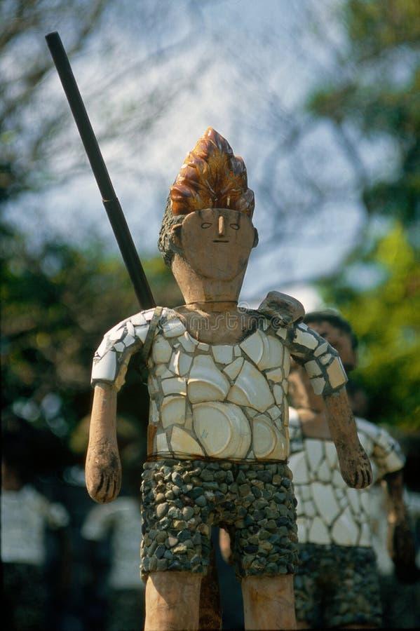 Solda decorativa feita do oeste Na ÍNDIA do território de união de chandigarh do jardim de rocha fotografia de stock