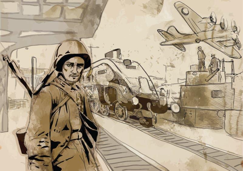 Soldado ilustración del vector