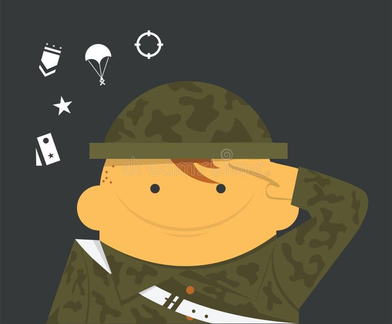 soldado ilustração stock