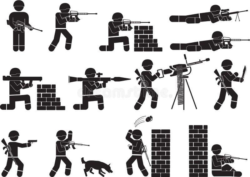 soldado stock de ilustración
