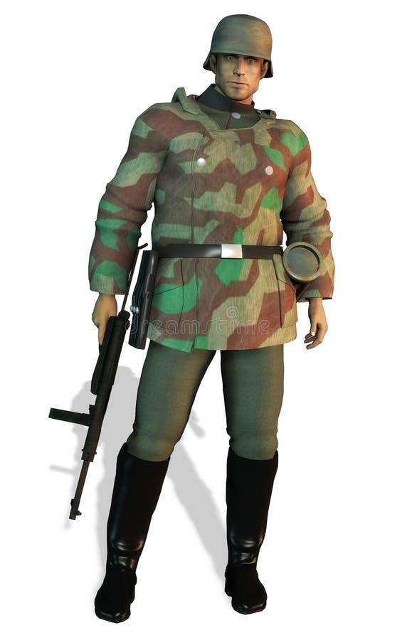 Soldado alemán WWII ilustración del vector